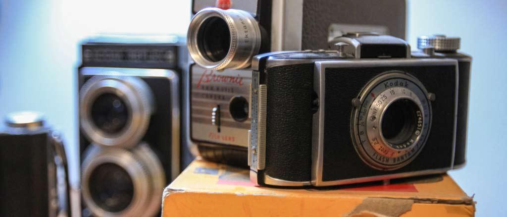 The Creative Department decor old Kodak cameras