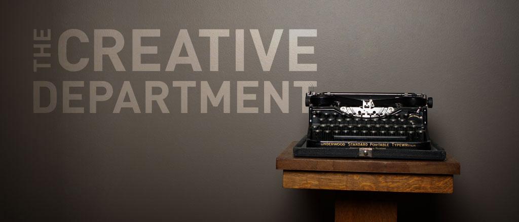 The Creative Department typewriter decor